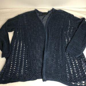 Lane Bryant crochet cardigan; 14/16
